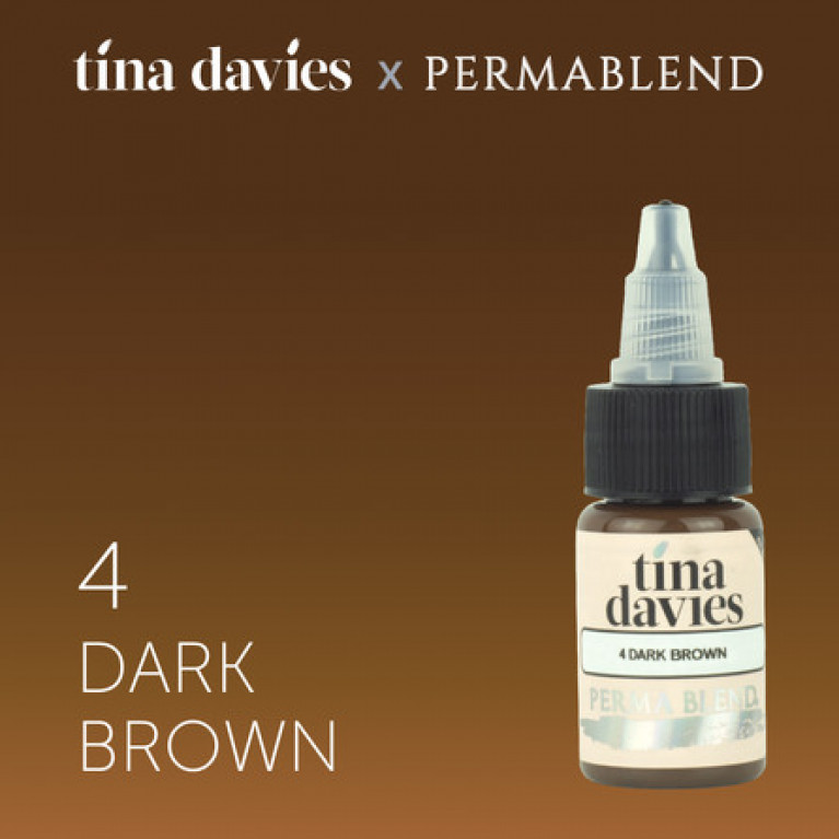 """Tina Davies 'I Love INK' 4 Dark Brown"""