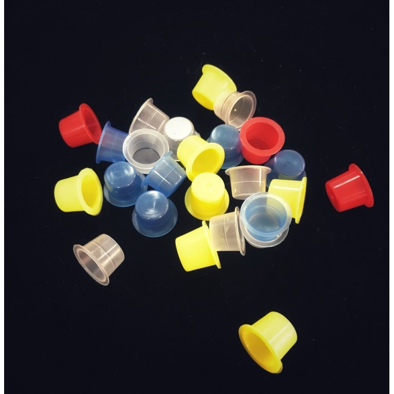 Колпачки для краски разноцветные